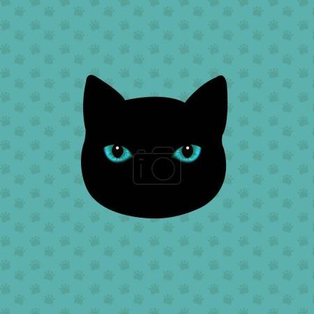 Cat Logo With Gradient Mesh