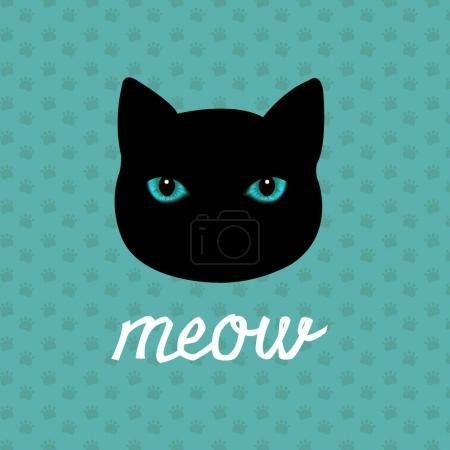 Cat Logo With Gradient Mesh