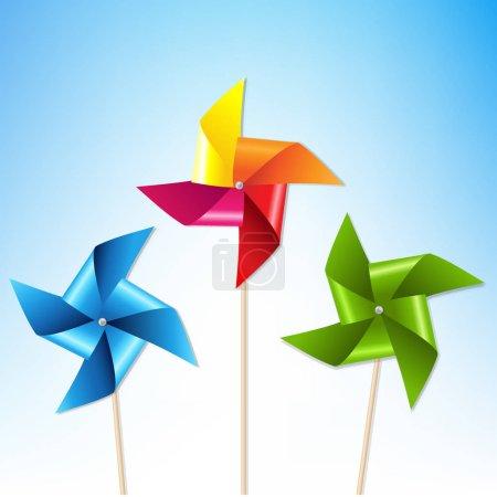 Colorful Pinwheels Illustration