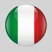 Mexican Flag Icon With Gradient Mesh Vector Illustration