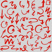 Hand Drawn Arrows Set Vector Illustration