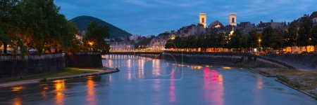 Panorama of night Besancon