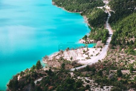 Photo for Beautiful view of St. Croix lake in Verdon gorge in Provence, France. - Royalty Free Image