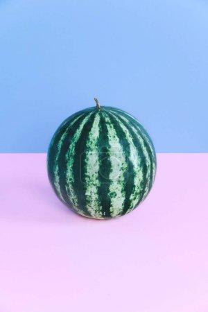 Fashion watermelon on pastel background.