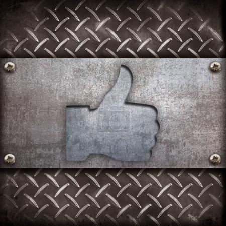 Photo pour Symbole pouce soulevé dans OK signe - image libre de droit