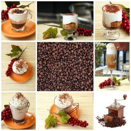 Foto de Collage de café sobre fondo blanco - Imagen libre de derechos