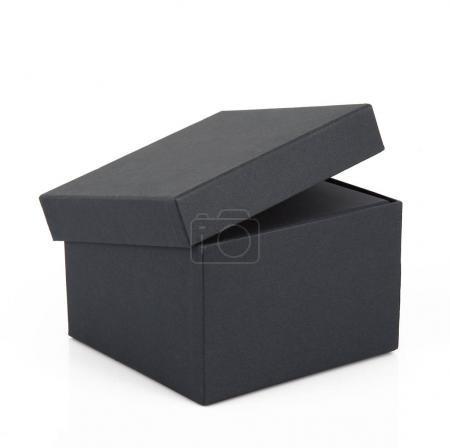 Photo for Black carton box on white background - Royalty Free Image