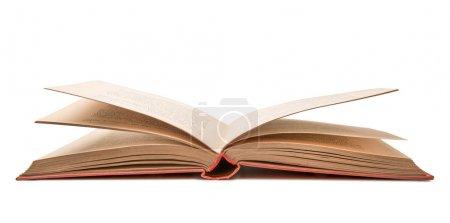 Photo pour Vieux livre ouvert sur fond blanc - image libre de droit