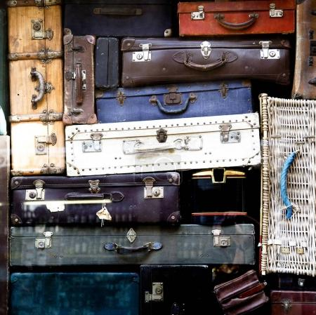 Photo for Stack of many vintage bags - Royalty Free Image