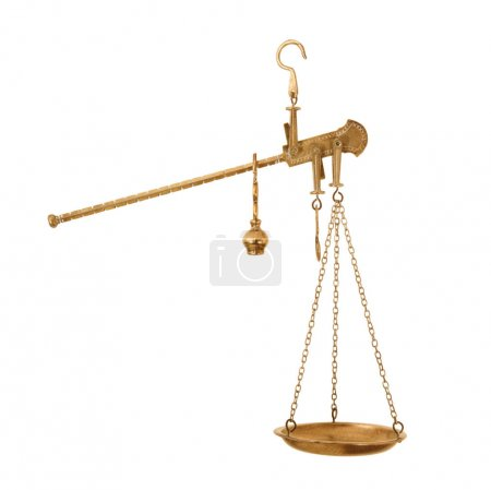 Photo for Old scales on white background - Royalty Free Image