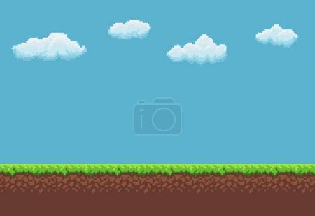 Pixel Game Background