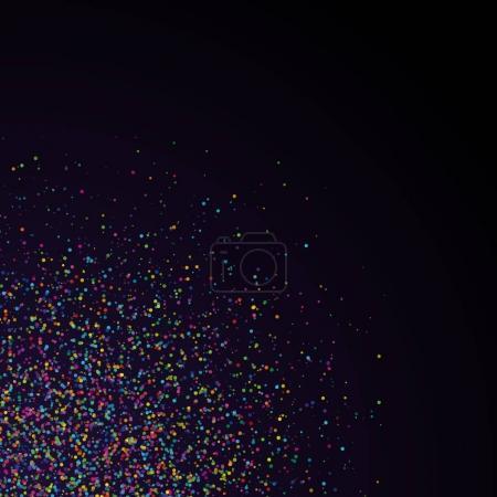 Illustration pour Fond abstrait avec des confettis tombants dans le coin - image libre de droit