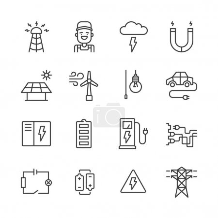 Outline Electricity Icons