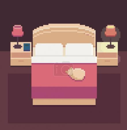 Pixel Art Bedroom