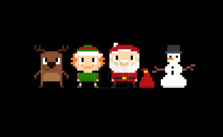 Pixel Christmas Background