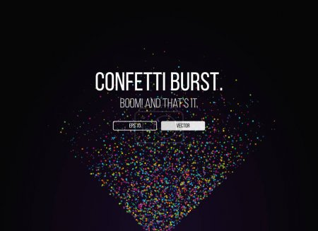 Website template with confetti