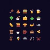 Pixel Art Food Icons