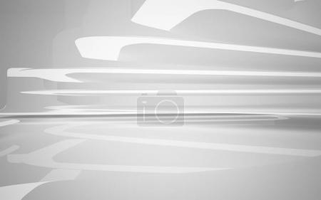 Abstract white interior of the future