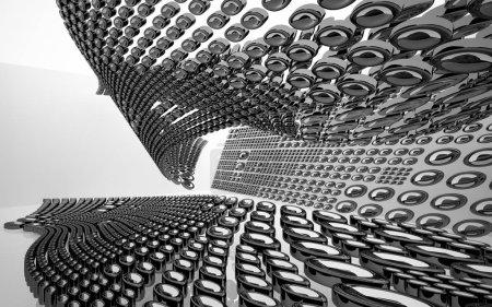 Dynamic black and white interior