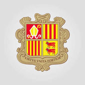 The coat of arms of Andorra Vector illustration