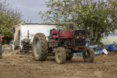 Antique tractor rustic rusty metal machine