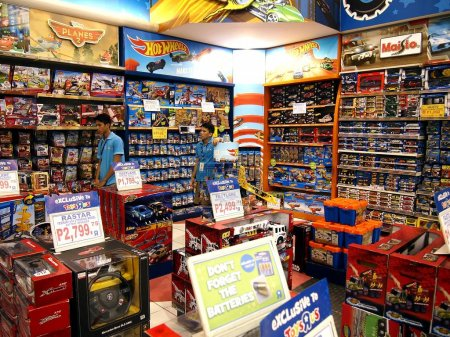A wide variety of toys on display at Toys R Us inside the Robinson's Galleria in Quezon City.