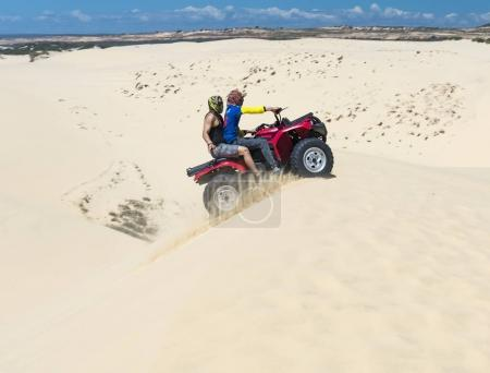 Travelers are experiencing the thrill of crossing the sand dunes