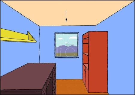 Photo pour Cette photo montre l'intérieur d'une chambre - image libre de droit