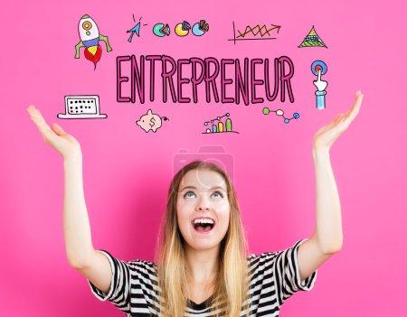 Entrepreneur concept with woman