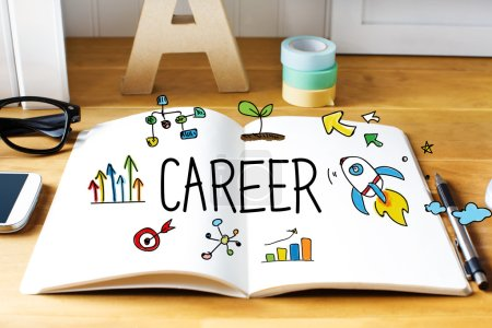 Career concept with notebook