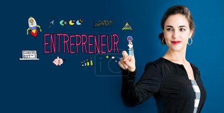 Entrepreneur concept with business woman