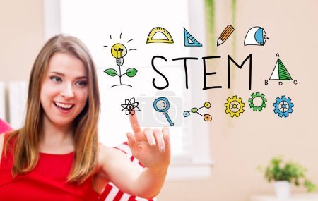 STEM concept with young woman