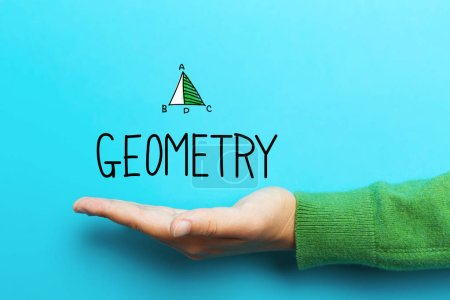 Geometry concept with hand