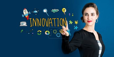 Innovation concept with business woman