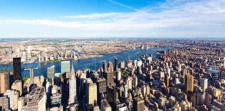 Photo for Aerial view of Manhattan New York from Midtown - Royalty Free Image