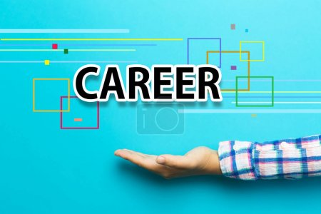 Career concept with hand