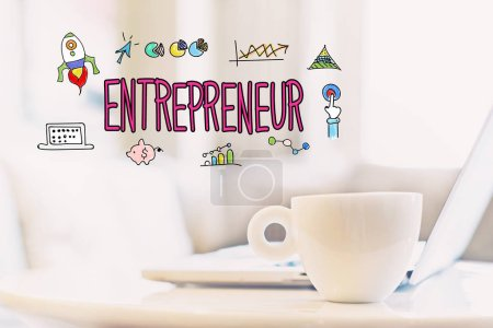Entrepreneur concept with cup