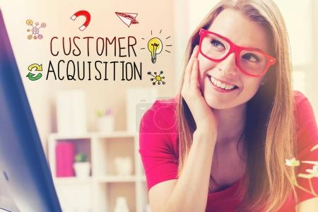 Customer Acquisition text
