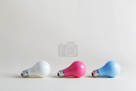 Three Colored lightbulbs