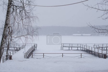 Photo for Snowy landscape, winter view - Royalty Free Image