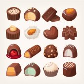 Chocolate vector sweets