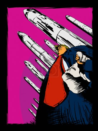Editorial Cartoon of Donald Trump