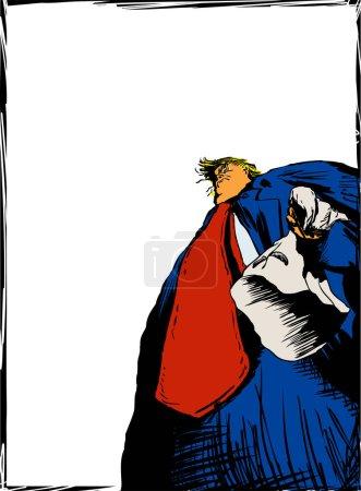 Donald Trump Holding KKK Hood