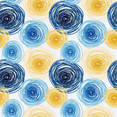Seamless pattern with colorful circles van gogh artistic style