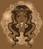 Portrait of  indian goddess Kali