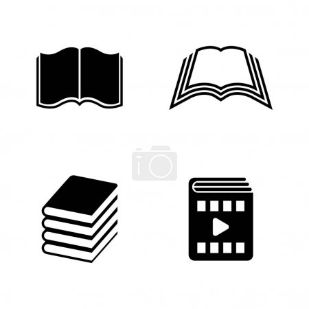 Book. Simple Related Vector Icons