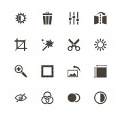 Image Editing - Flat Vector Icons