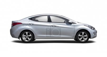 Hyundai Elantra isolated on white