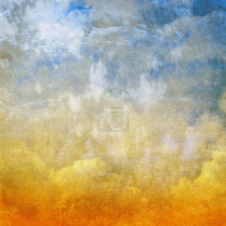 Photo for Watercolor sky background, copy space - Royalty Free Image
