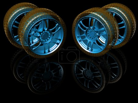 New wheels isolated